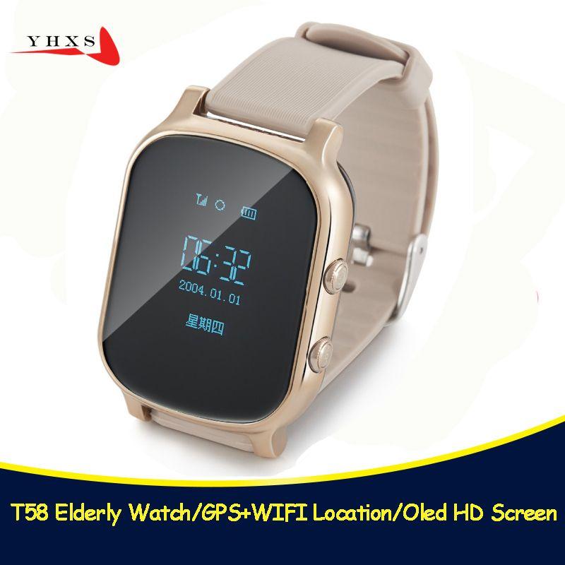 T58 Smart Kid Safe OLED Montre SOS Appel GPS WIFI Location Finder Tracker pour Enfant Aîné Anti Perdu À Distance Moniteur bébé Montre-Bracelet