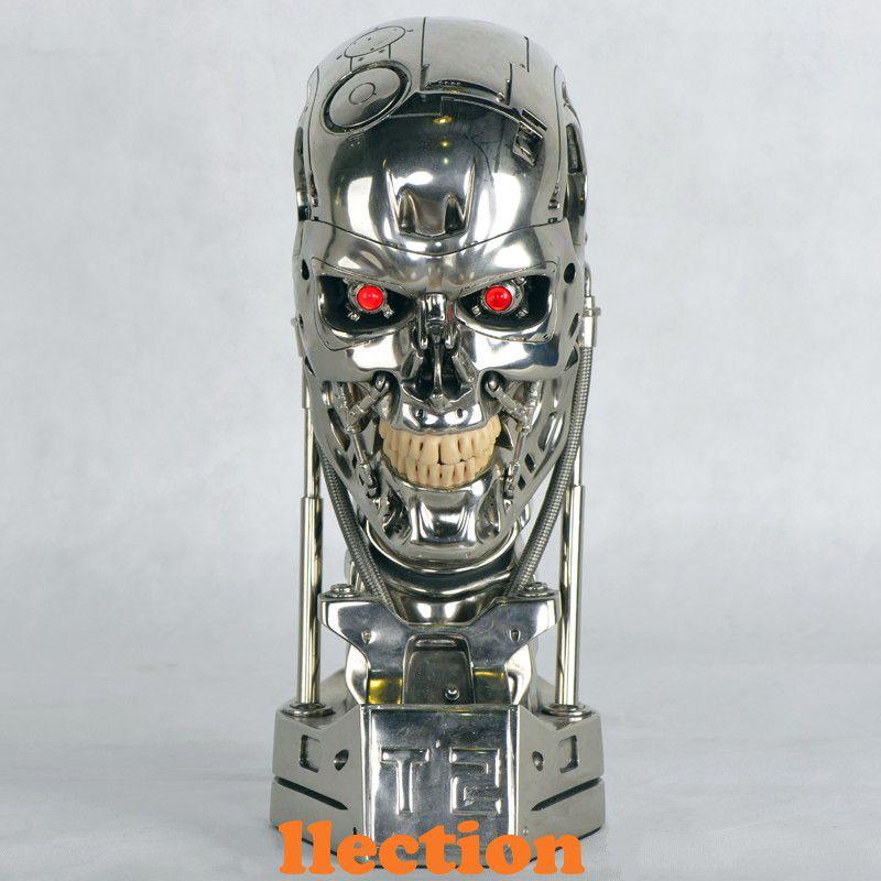 Hot NEW 1:1 Terminator T800 T2 Skull Endoskeleton Lift-Size Bust Figure Resin Replica LED EYE Best Quality WU562