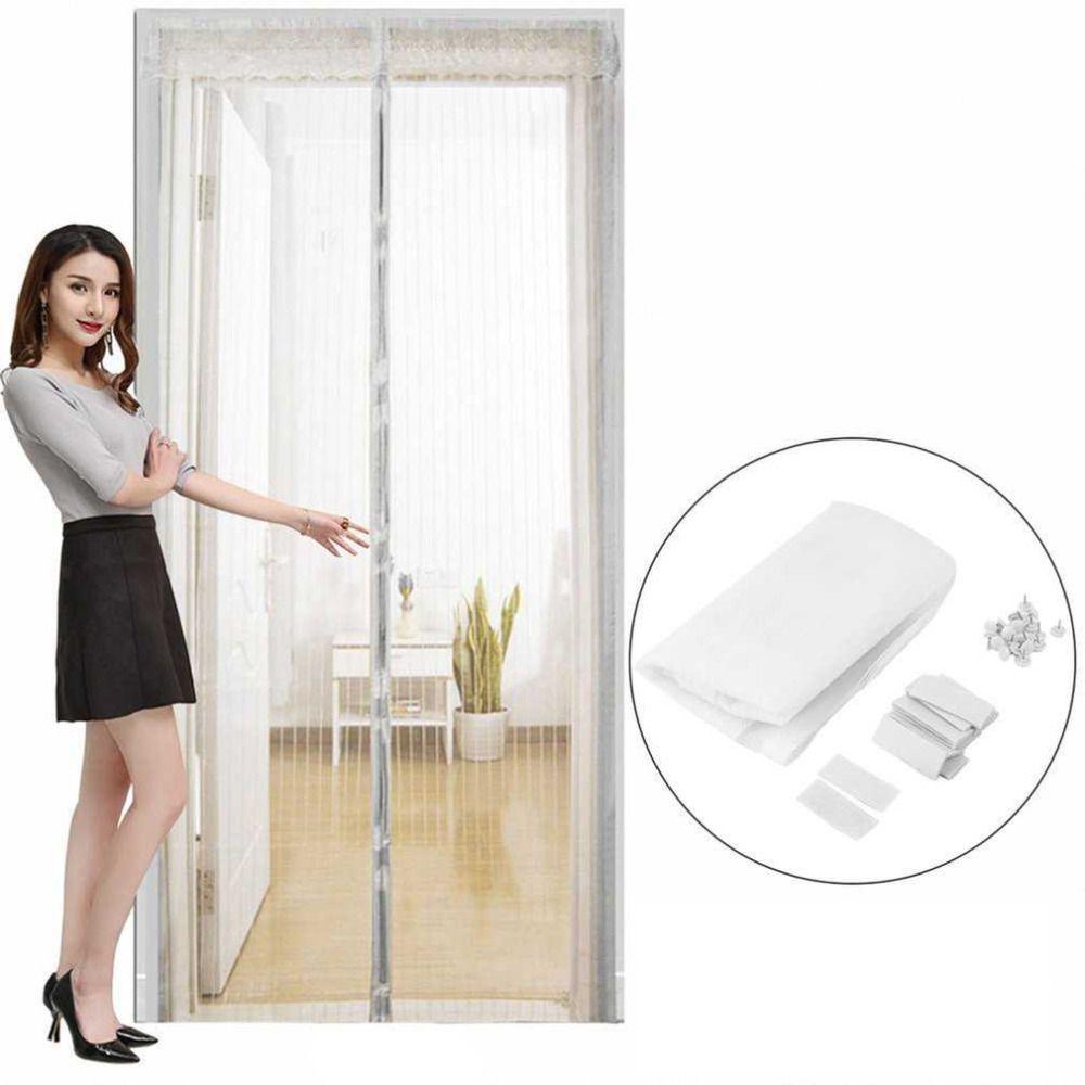 2 Teile/satz Durable Antimoskito-insekt Vorhänge Magnet Mesh Net Freisprecheinrichtung Automatische Schließen Tür Bildschirm Küche Vorhänge