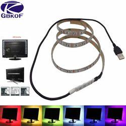 USB LED Bande Lumière TV Rétro-Éclairage 5 V Étanche RGB SMD 5050/3528 LED Ruban Bande Lumières pour L'ordinateur PC Décoration éclairage