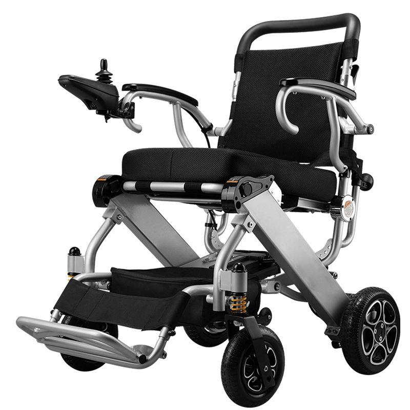 Kostenloser versand Produkt CE FDA Leichte, Tragbare Reise Aluminium Folding Lithium-Batterie Power Elektrische Rollstuhl