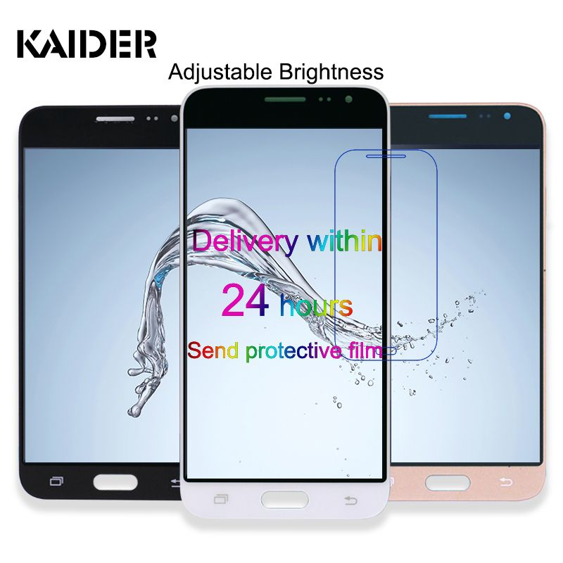 5.0 inch Adjust brightness LCD Display For Samsung Galaxy J3 2016 J320FN J320M J320F Phone Touch Screen Digitizer