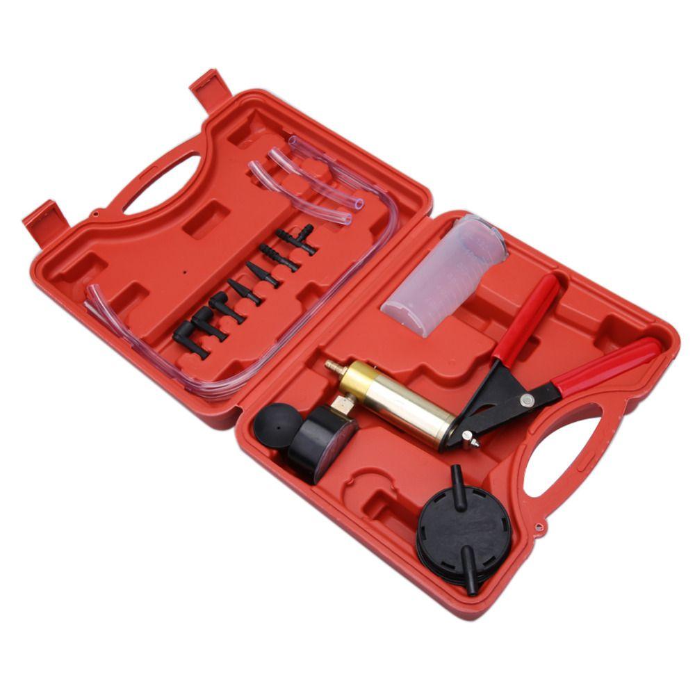 High Quality Car Auto Hand Held Vacuum Pump Brake Bleeder Adaptor Fluid Reservoir Tester Kit 2 in 1 Tool Kits