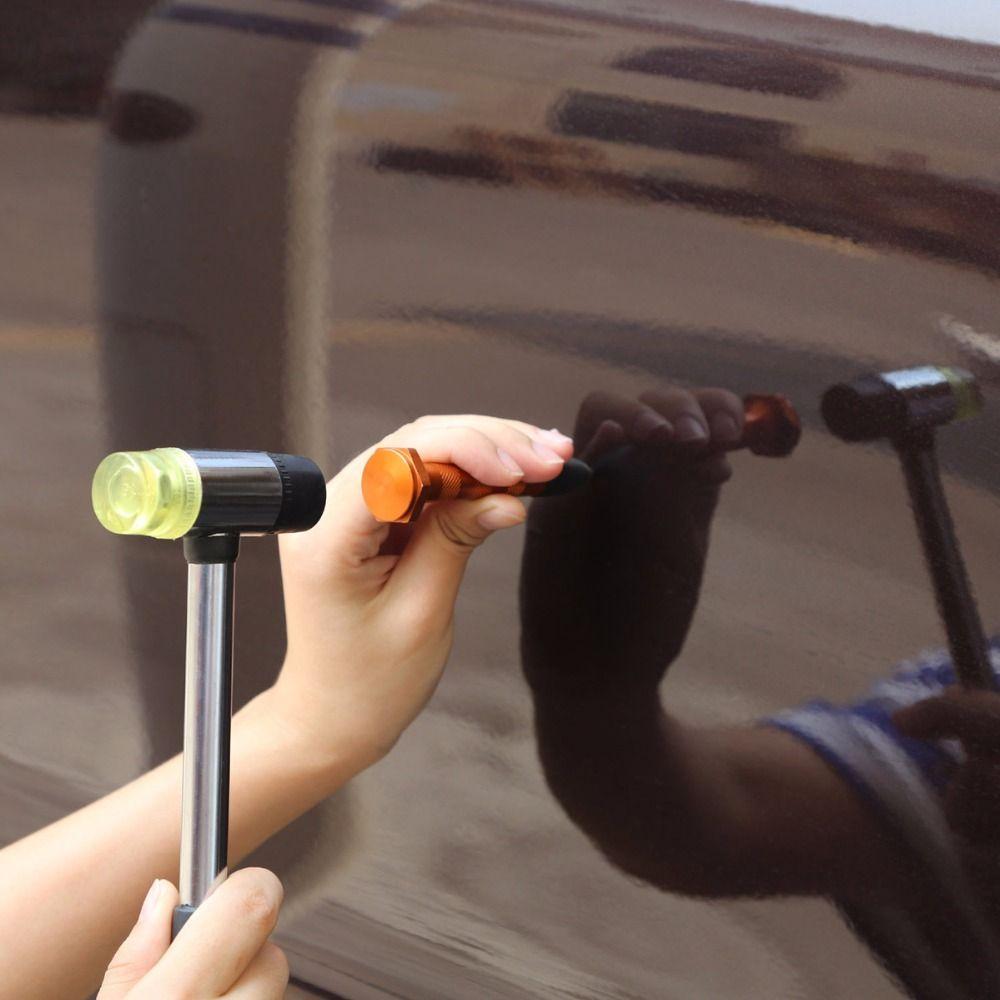 26 cm Gummi Hammer Werkzeug Doppel Konfrontiert Hammer Ausbeulen ohne Reparatur Werkzeuge Hand Tools Kit für Auto Karosserie Reparatur