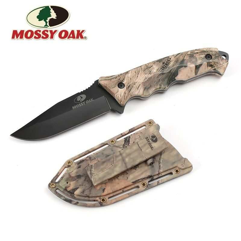 Mossy Oak 10 <font><b>Fixed</b></font> Blade Knife Outdoor Camping Knife Hunting Knives Camo Survival Emergency Knives Overall With ABS Sheath