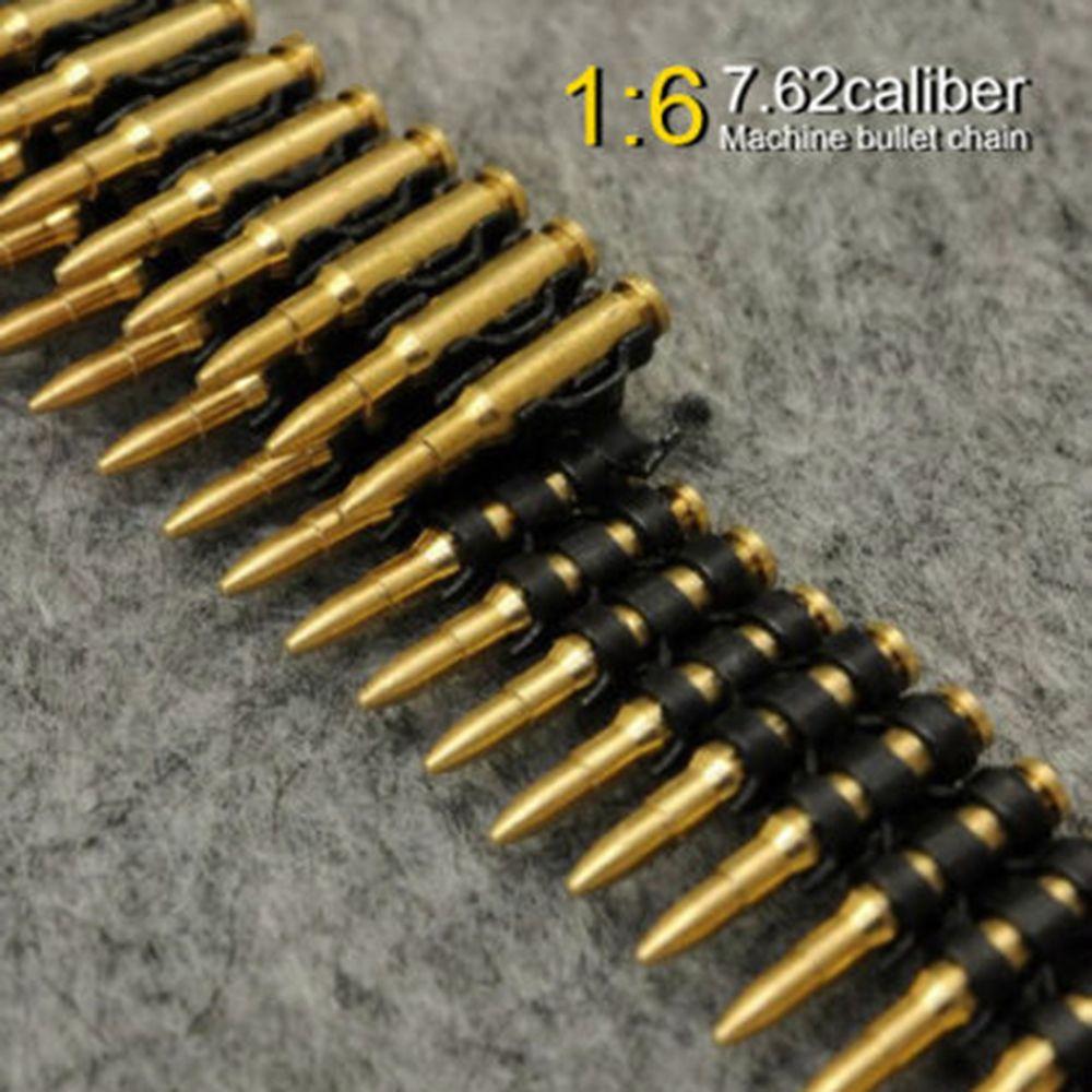 50 teile/satz 1/6 Scale Figure Spielzeug Zubehör 7,62 kaliber metall maschine kugel kette Für 12