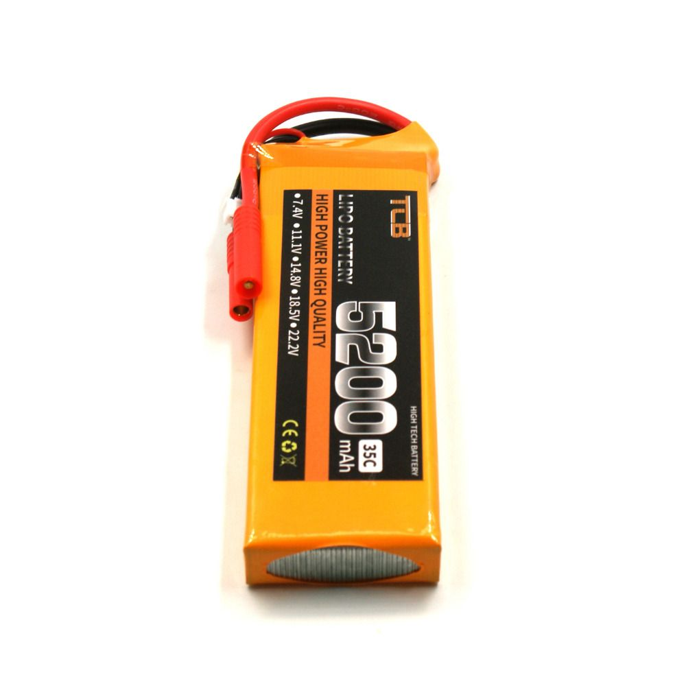 TCB RC Lipo battery 7.4V 5200mAh 35C 2S for RC Airplane Drone Car Boat Free Shipping