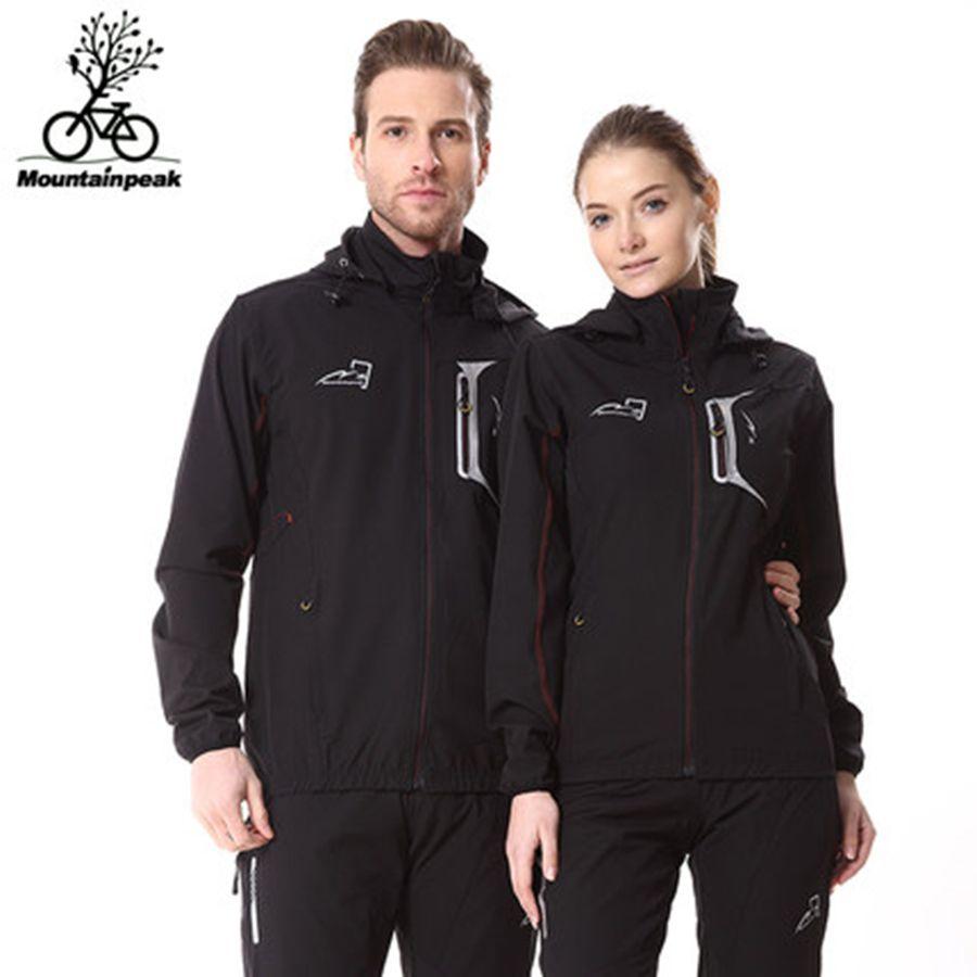 Alpinpeak coupe-vent à manches longues costume hommes et femmes vélo Sports de plein air peau vêtements coupe-vent ropa ciclismo