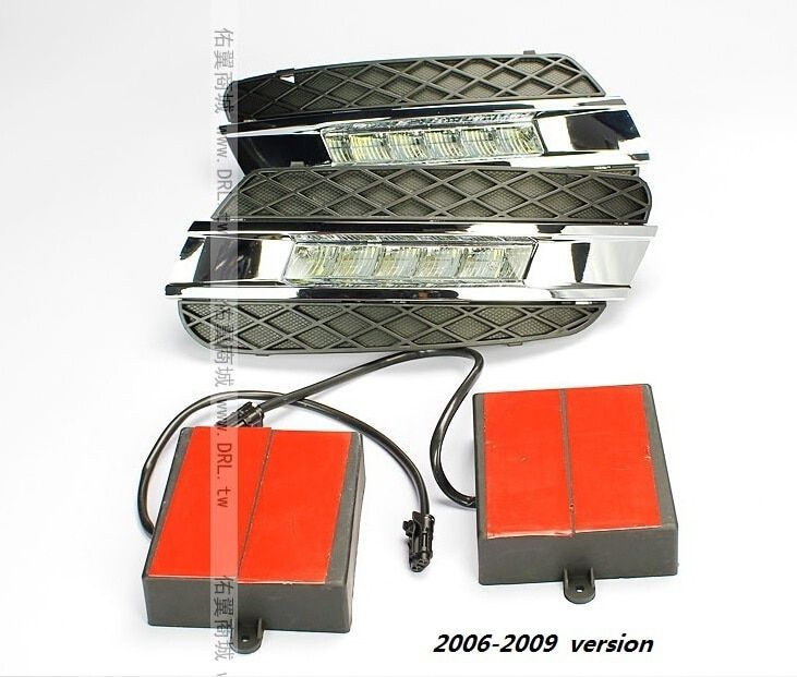 Free shipping by EMS LED daytime running light for Mercedes Benz W164 ML350 ML280 ML300 ML320 ML500 2006-09, 2010-11 LED DRL