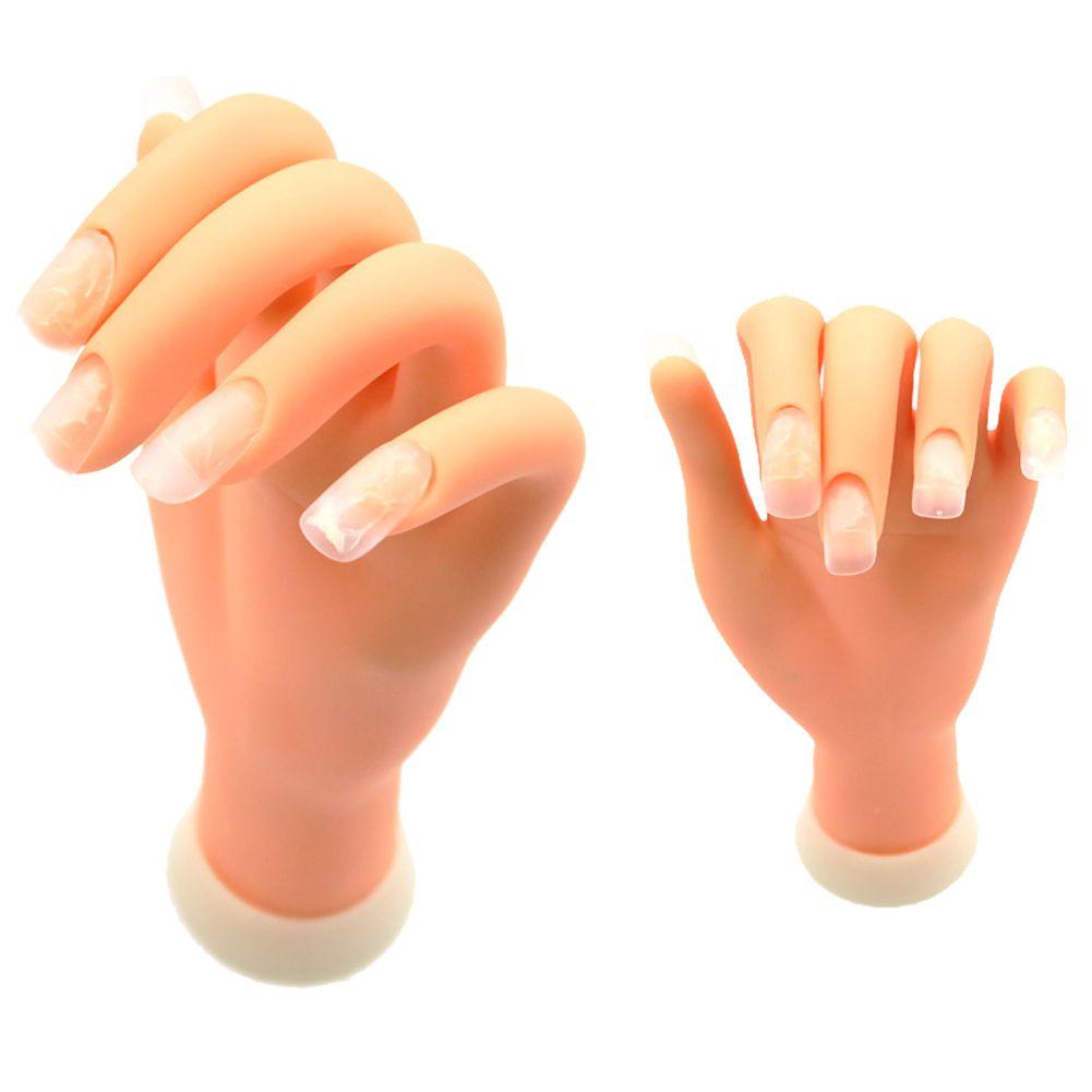 1 pièces Flexible souple en plastique Flectional Mannequin modèle peinture pratique outil Nail Art fausse main pour l'entraînement