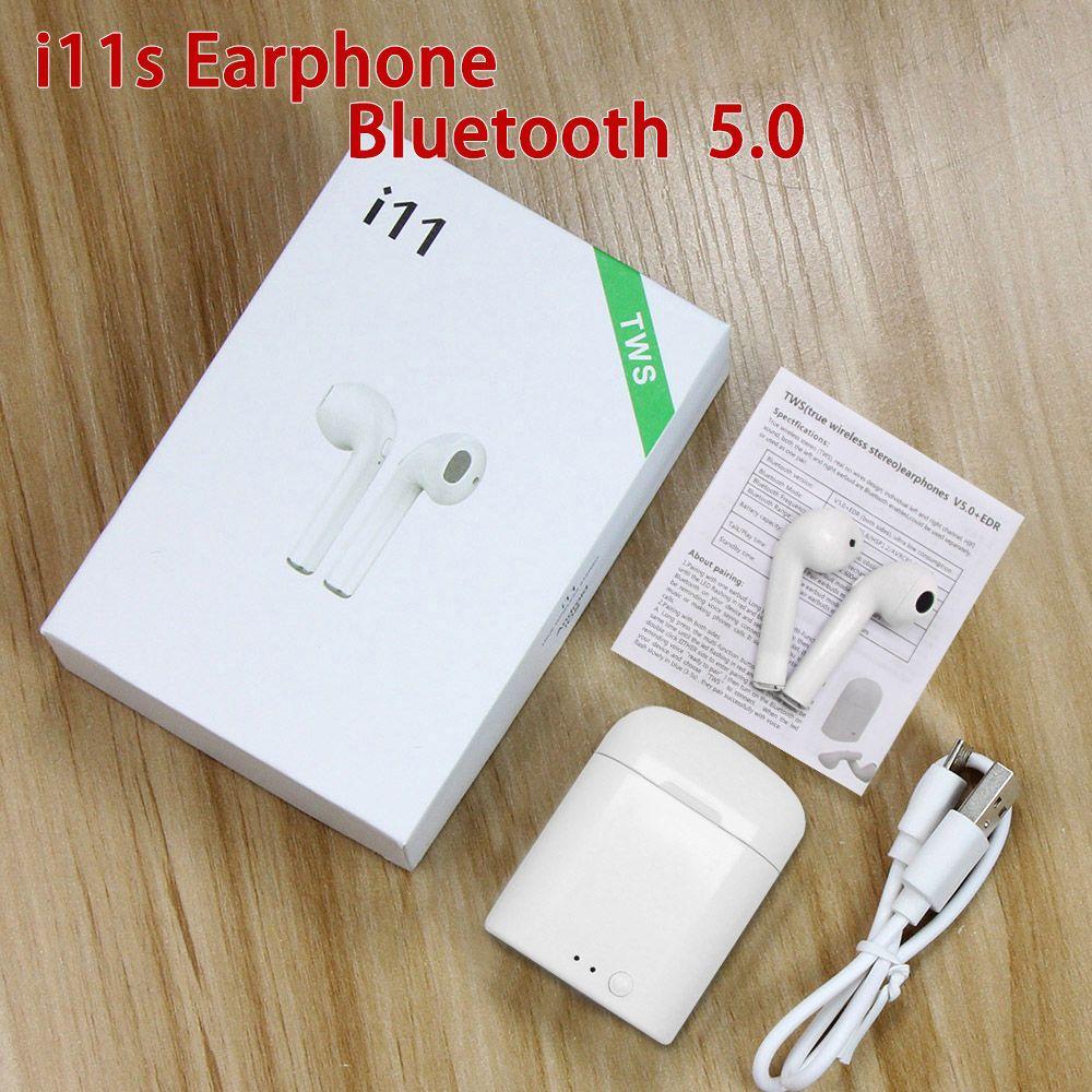 I11s TWS Mini écouteurs sans fil bluetooth oreillettes stéréo oreillettes casque avec boîte de charge écouteurs pour Samsung Smart Ear Aid