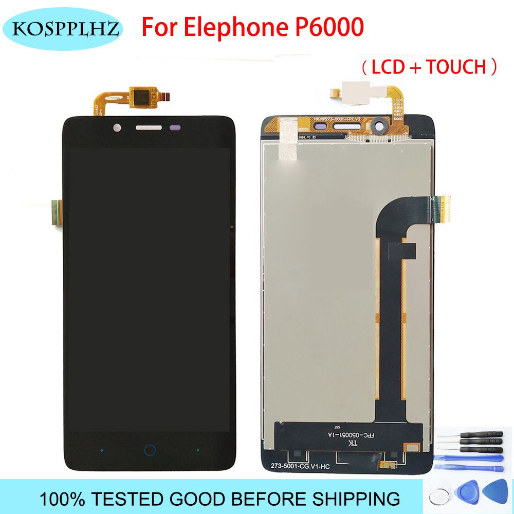 LCD Display Touch Screen For Elephone P6000 pro Phone Mobile Assembly With Digitizer Parts Lcds Touch +Tools Replacement P 6000