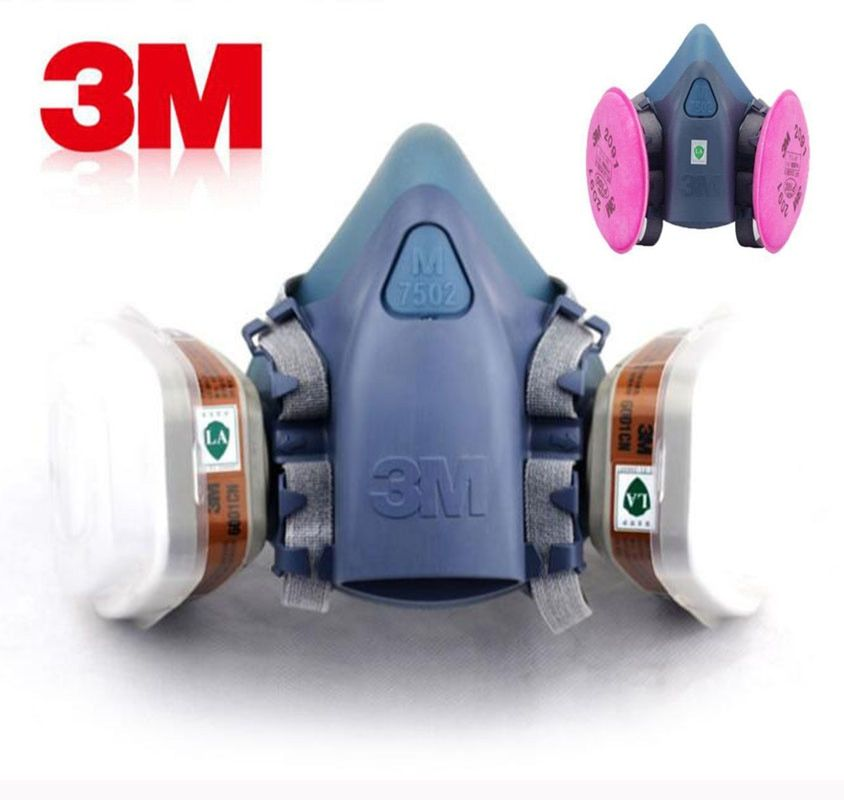 3 M 7502 Peinture Pulvérisation masque à gaz Chemcial Sécurité Travail masque à gaz Preuve Poussière Masque masque respiratoire Avec 3 M Filtre