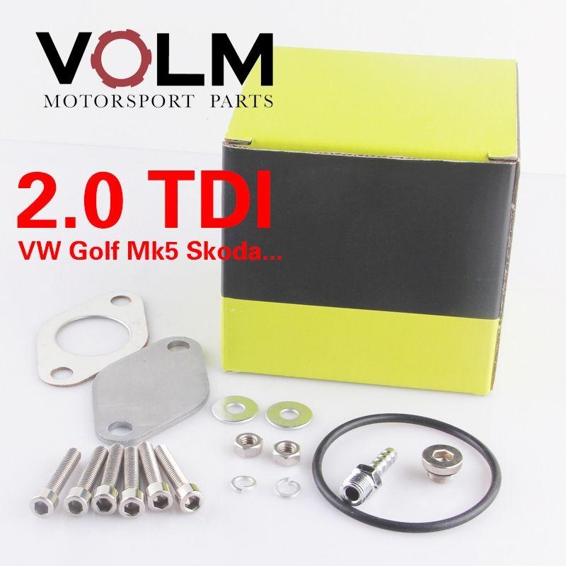 EGR Valve Exhaust Gas Recirculation Delete Kit For VW Golf 5 2.0tdi diesel egr EGR1115