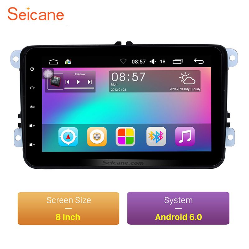 Seicane Android 6.0 HD touchscreen für 2003-2012 VW Volkswagen Passat Golf Jetta Radio GPS navigation mit OBD2 Bluetooth Wifi