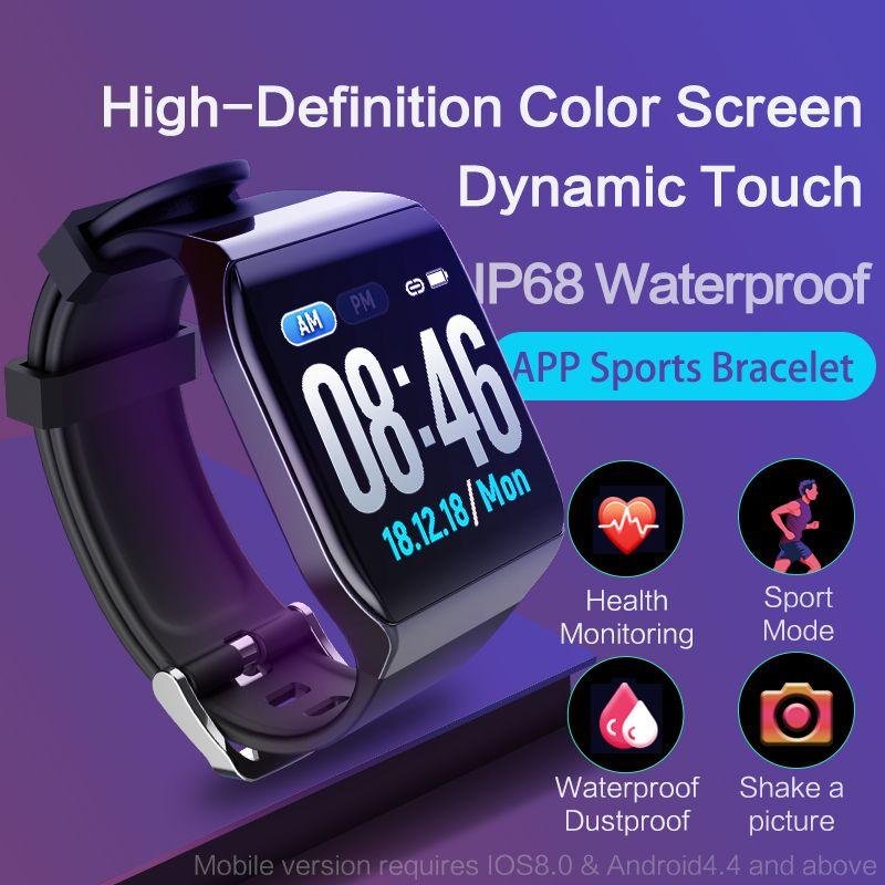 KSUN KS58 Bracelet intelligent bande avec moniteur de fréquence cardiaque ECG pression artérielle IP68 Fitness Tracker Bracelet montre intelligente