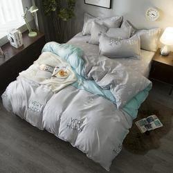 Musim Panas Set Tempat Tidur Panjang Bunga Kapas Poliester Queen Full Seprai Duvet Cover Lembar Set Dorp Pengiriman