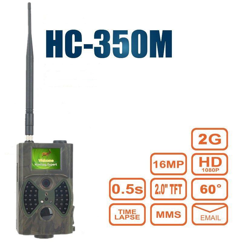 Jagdhinterkamera MMS GSM GPRS 16MP Foto Fallen Überwachung Trail Jagdkamera Falle Wasserdichte HC350M Nachtversion Kamera