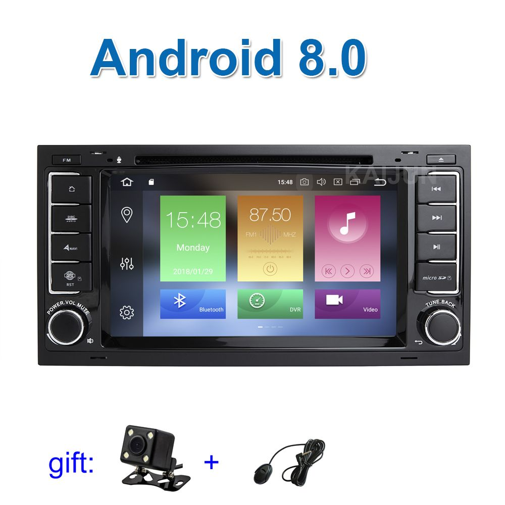 IPS screen 4G RAM Android 8.0 Car DVD Player Radio for VW T5 Transporter Multivan Touareg with WiFi BT GPS Stereo