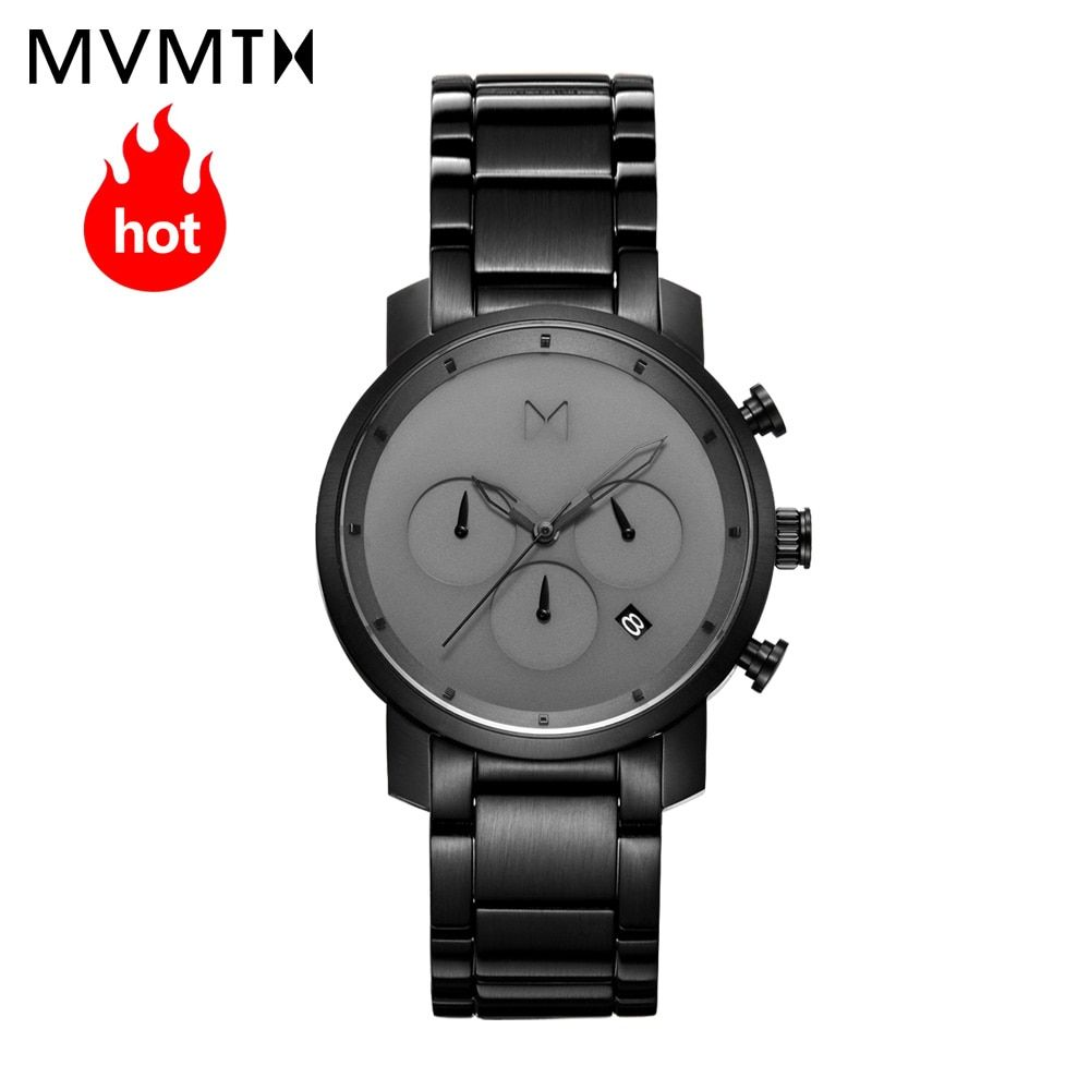 MVMT watch Official website Authorized Genuine fashion trend Timing function students men's watch with leather watchband watch