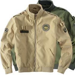 Pria taktis militer Army MA-1 Penerbangan Angkatan Udara Percontohan Bomber Jaket Baseball Varsity Universitas Tahan Air Mantel Musim Dingin Untuk Pria