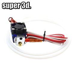 V6 à distance Bowen impression J-tête 12 v Tout en métal Hotend, 1 mètre Téflon tube et support de ventilateur de refroidissement pour 1.75/3.0mm pour 3D imprimante