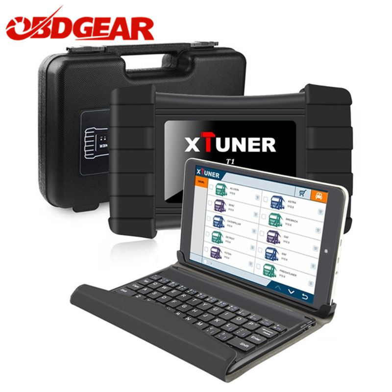 Newest V8.7 XTUNER T1 HD Heavy Duty Trucks Auto Diagnostic Tool With Truck Airbag ABS DPF EGR Reset+ 8' WIN8 OBD 2 Autoscaner