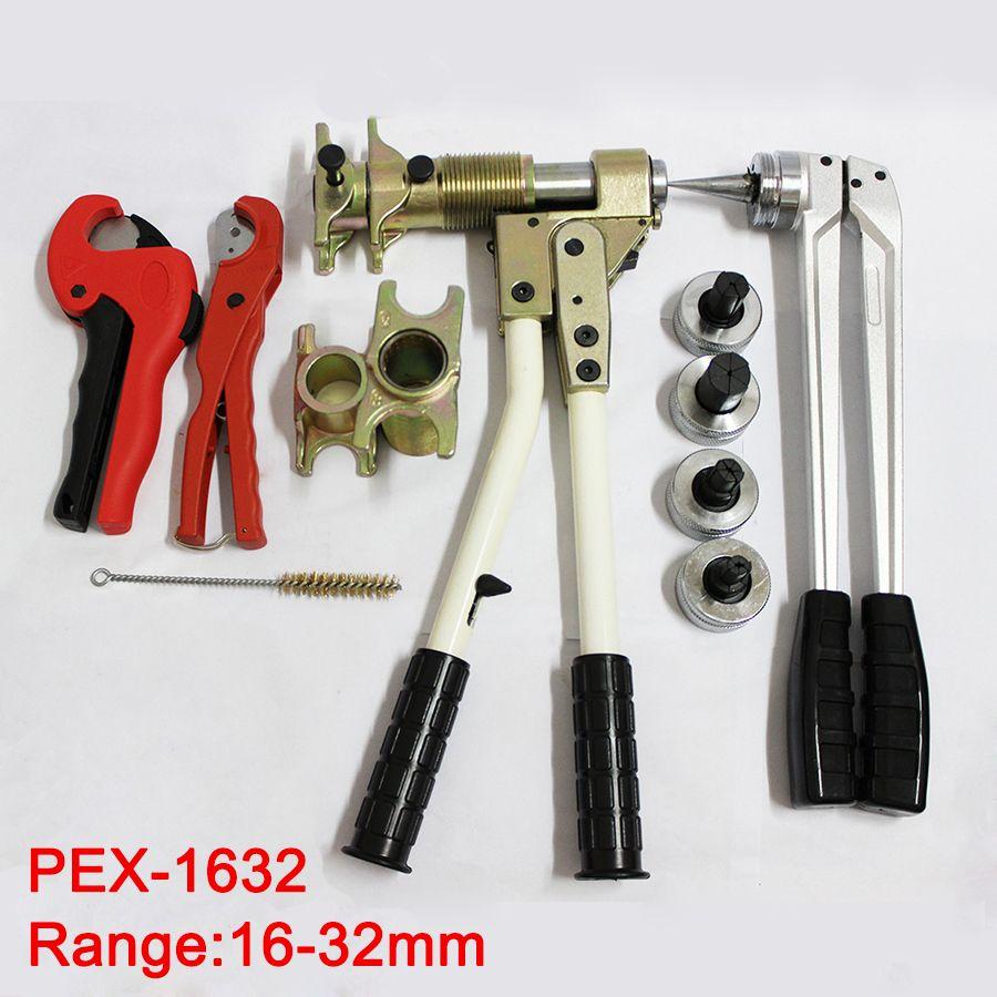Freies verschiffen Rohr Spann Werkzeug montagewerkzeug PEX-1632 Bereich 16-32mm verwendet für REHAU Armaturen gut erhalten Rehau sanitär Werkzeug