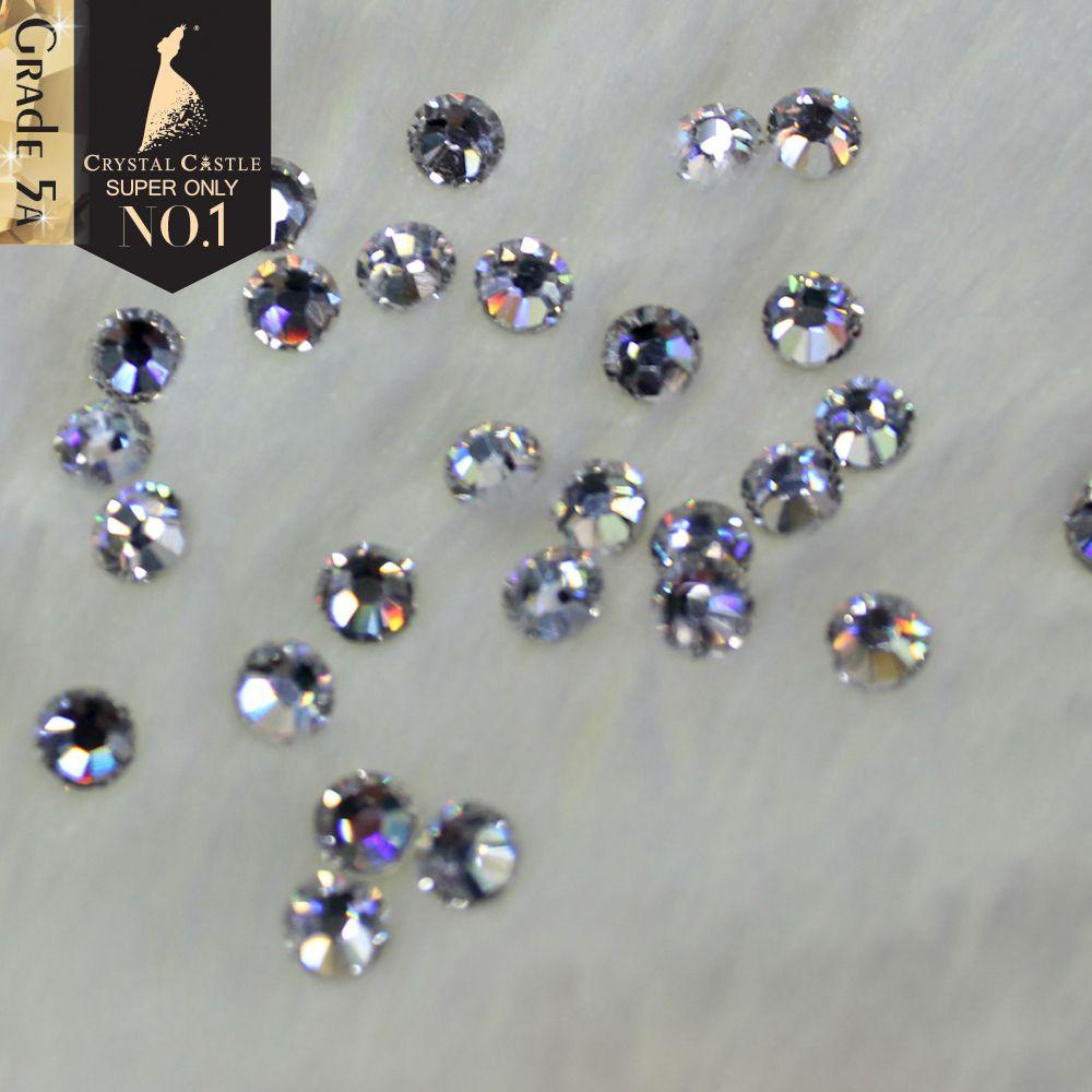 Château de cristal Correctif Strass Pour Vêtements 5A Meilleur Brillant Hot Fix strass thermocollant Clair Blanc Pierres Et Cristaux Strass bricolage
