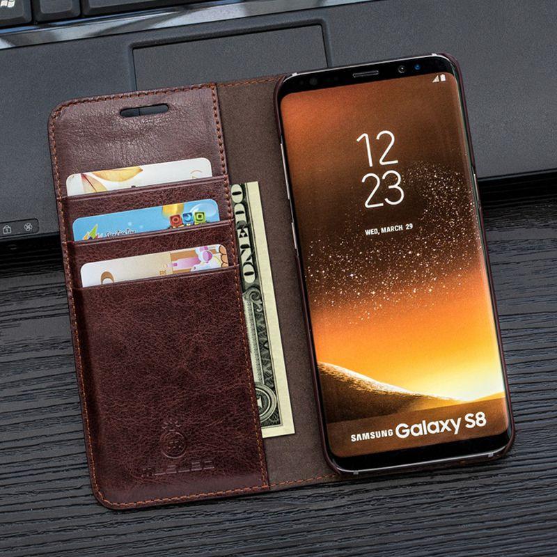 Cas Pour S8 Plus Musubo De Luxe couvercle rabattable en cuir pour Samsung Galaxy Note 8 S7 bord S6 bord Plus S5 S4 S3 cas Portefeuille sac de téléphone