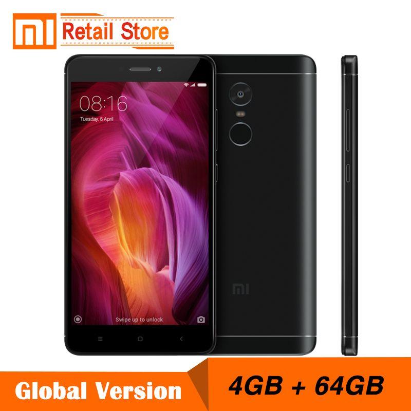 Global Version Xiaomi Redmi Note 4 Snapdragon 625 Octa Core CPU Mobile Phone 4GB RAM 64GB ROM 5.5