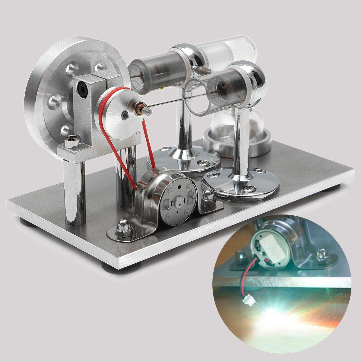 Воздушный Стирлинг Двигатели модель электричество Мощность генератор Двигатель комплект игрушка в подарок