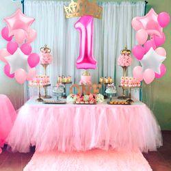QIFU мой первый день рождения воздушный номер фольги Воздушные шары воздушный детский душ мальчик девочка первый день рождения украшения Дет...
