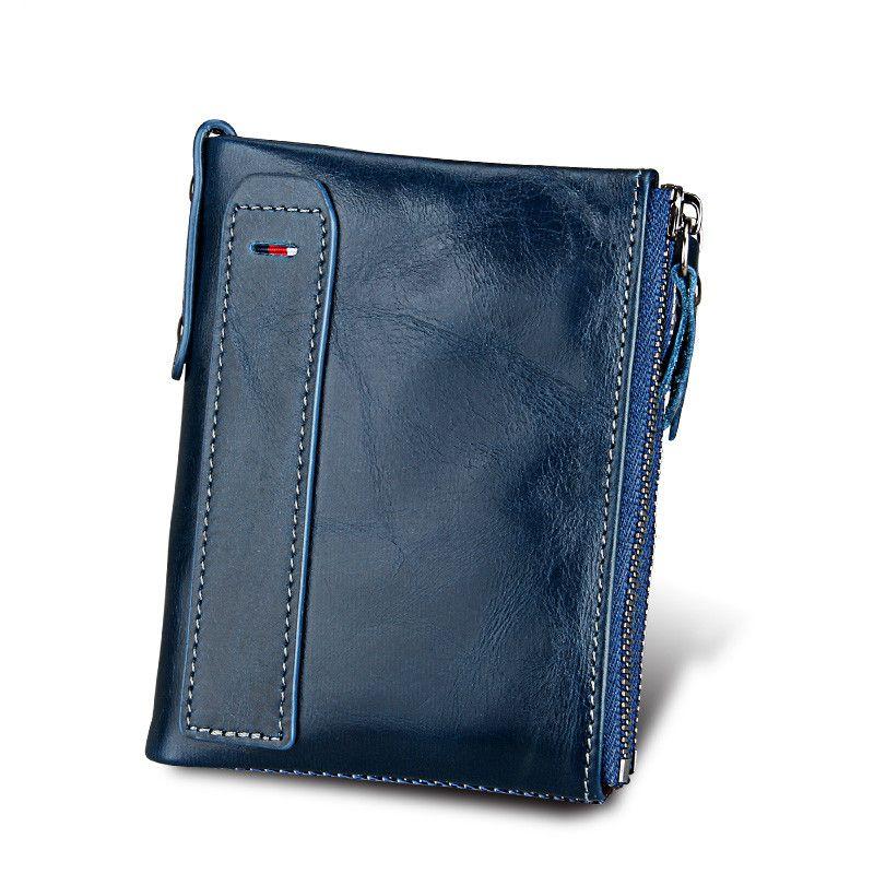Hot!!! Genuine Leather Women Wallet Purses Coin Purse Female Small Portomonee Bifold Rfid Wallet Lady Purse For Girls Money Bag