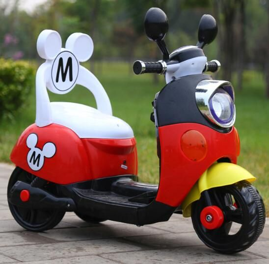 Special Offer 75 days Free Shipping Three Colors Mickey Child Ride On Electric Toy Motorcycle Bike For 1-5 Years Old Age Baby