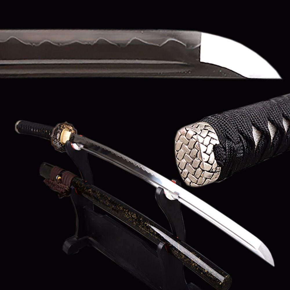 Shijian Swords Fully handmade Samurai Katana Full Tang Japanese Sword 1095 Carbon Steel Clay Tempered Sharp Knife Home Decor