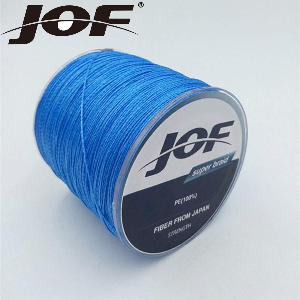 New JOF Brands 4 Stands 1000 meters Multifilament PE Braided Wire braided fishing line Super Strong fishing lines 10LB-100LB