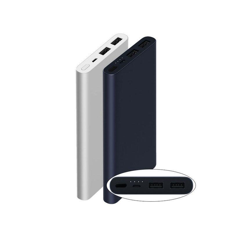 10000 mah Xiaomi Puissance Banque 2 Charge Rapide Batterie Externe Soutenez 5 v/9 v/12 v Max 15 w pour Android et iOS Téléphones Mobiles