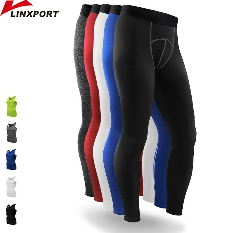 Mens Compression Sport En Cours Collants de Basket-Ball Gym Pantalon Musculation Jogger Jogging Fitness Skinny Leggings Pantalon