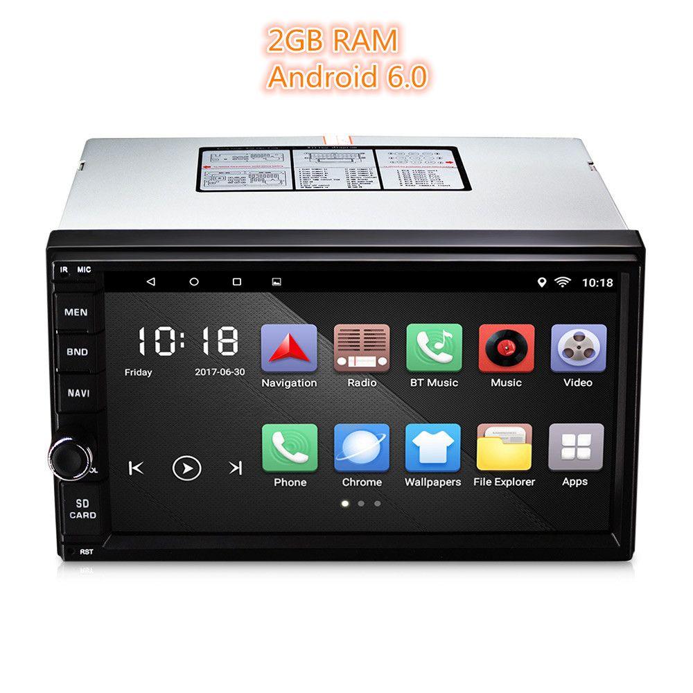 Universal 2 Din Auto Player Android 6.0 Auto Radio Player MP3 auto Audio-Player Video Multimedia GPS AM RDS FM Radio Bluetooth 2 GB