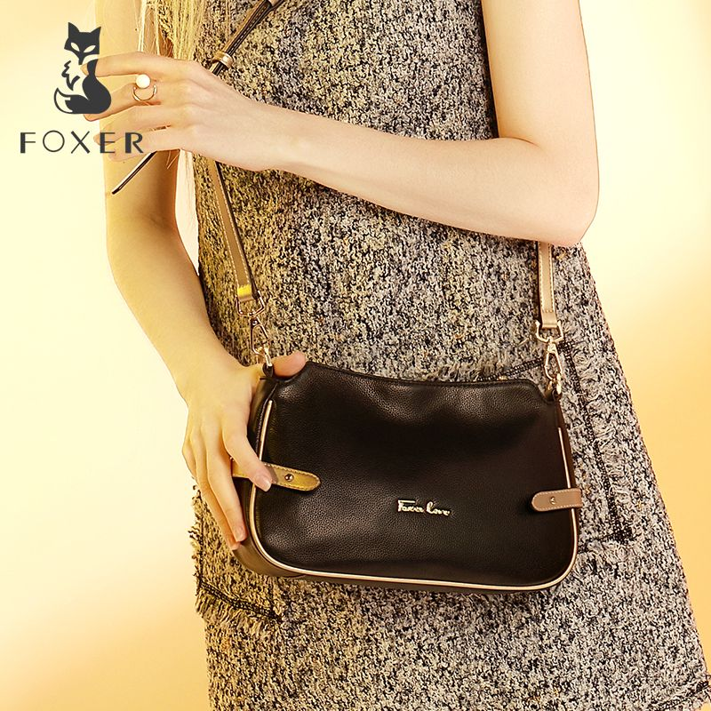 FOXER Brand Women Genuine leather Crossbody bag & Shoulder bags <font><b>Female</b></font> Messenger Bag Women's Fashion small bags
