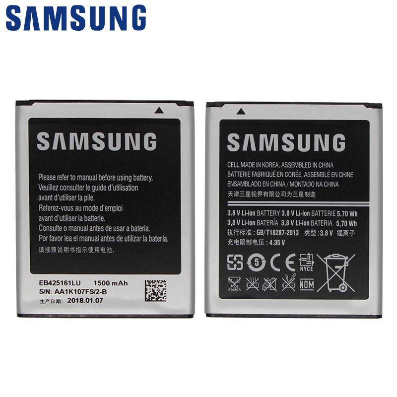 SAMSUNG Phone battery EB425161LU For Samsung S7562 S7560 S7566 S7568 S7572 S7580 i8190 I739 i759 I669 I8160 S7582 J1mini SM-J