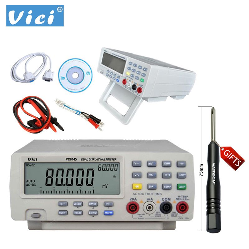 VICI Digital Multimeter VC8145 Bench Top Voltmeter PC DMM 80000 Digit Cap B0255