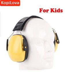 KopiLova Profesional Anak Kebisingan Telinga Muffs Telinga Pelindung Kebisingan Peredam Suara Bukti Perlindungan Pendengaran Earmuff untuk Anak-anak Anak-anak