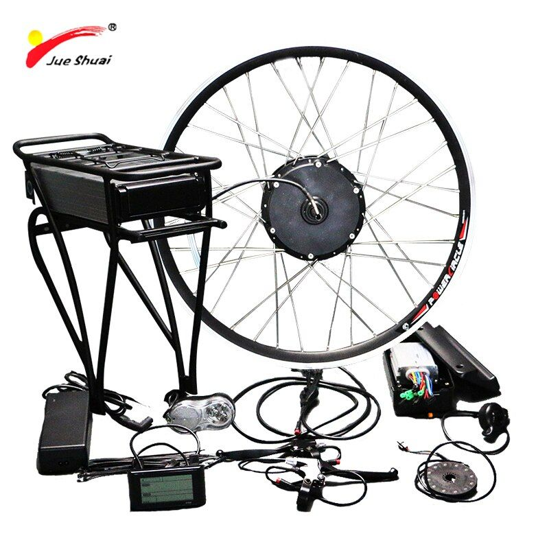 Free Shipping 48V 500W Electric Bike Conversion Kit with Battery 48V 12AH Hub Motor Wheel s900 LCD Ebike E-bike Conversion Kit