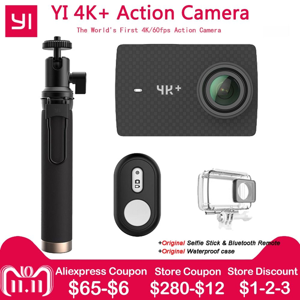 Xiaomi YI 4K+ Action Camera Ambarella H2 12MP 155 Degree 2.19