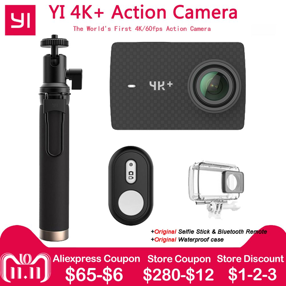 Xiaomi YI 4K+ Action Camera Ambarella H2 12MP 155 Degree 2.19