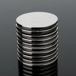 10 unids 25mm x 2mm N35 strong ronda de tierras raras de neodimio imán imanes imán circular imán permanente