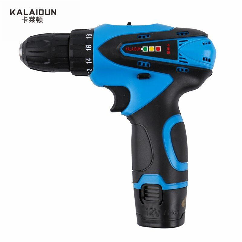 KALAIDUN 12V Mobile Electric Drill Power Tools Electric Screwdriver <font><b>Lithium</b></font> Battery Cordless Drill Mini Drill Hand Tools