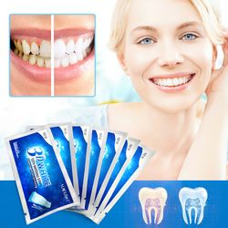 AuQuest New Crest 3D Pearly White Teeth Whitening Gel Strips Bright White Teeth Care Dental Bleaching Paste Teeth Treatment 7PCS